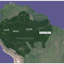 A map of the Amazon region