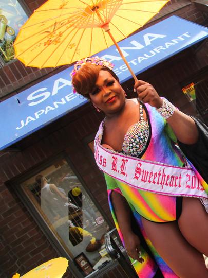 Preparing for the D.C. Pride Parade in 2019.