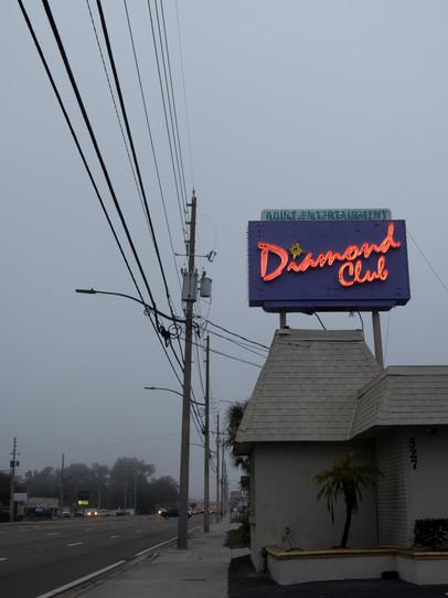 A strip club on a cloudy day in Orlando, Florida.