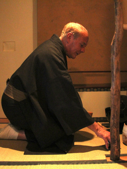 Todd Frey, who runs a Japanese-style teahouse in York, Pennsylvania, prepares for a ceremony in 2015.