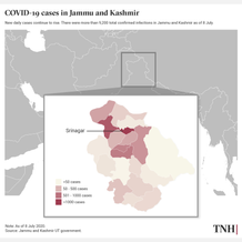 COVID-19 cases in Jammu and Kashmir