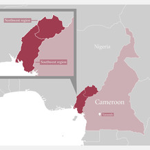 A map of Cameroon