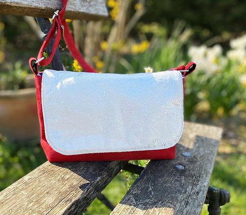 sac suédine rouge
