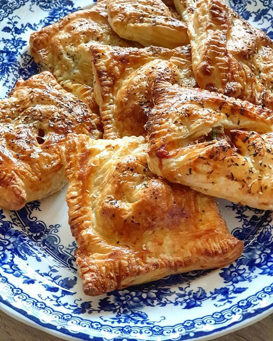 Leftover Roast Turkey Cranberry & Cheese Turnovers