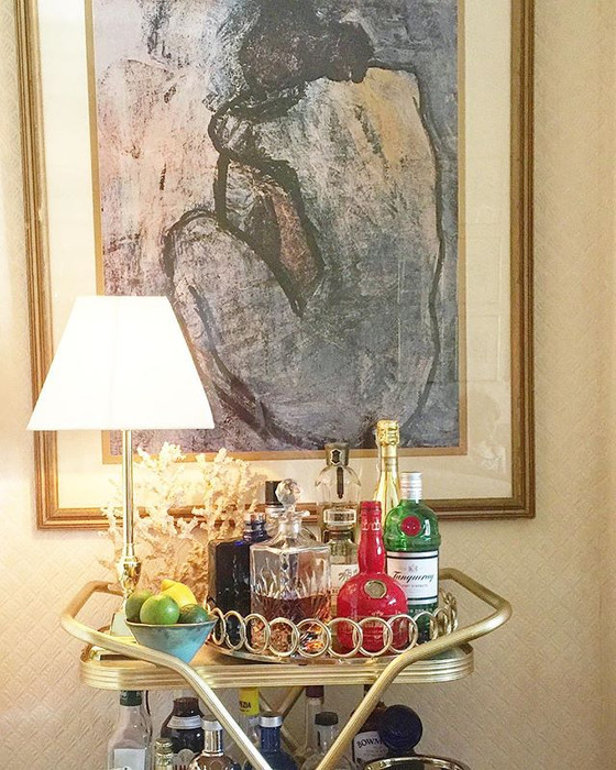 How to Style and Stock a Bar Cart