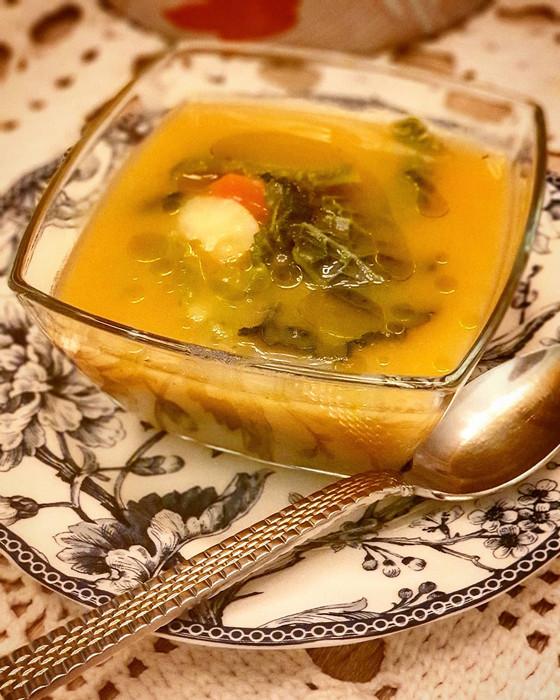Portuguese Cabbage & Carrot Soup  ❦ Sopa de Repolho e Cenoura