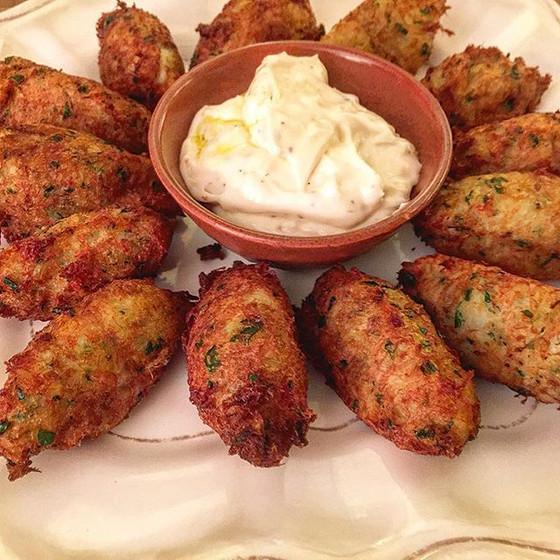 Portuguese Salt Cod Croquettes with Aioli ❦ Pastéis de Bacalhau com Maionese de Alhos