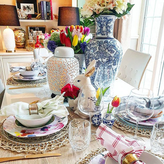 A Southern Inspired Floral Easter Table Setting