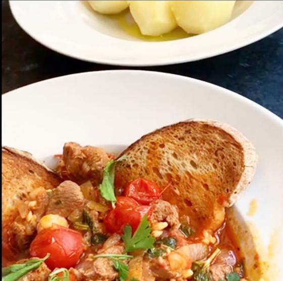 Portuguese Lamb Stew with Rustic Bread & Potatoes ❦ Ensopado de Borrego com Pão Alentejano e Batatas