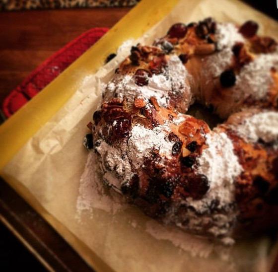 Portuguese King Cake ❦ Bolo Rei