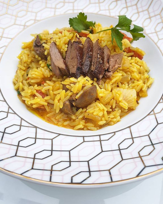 Chicken Liver Rice ❦ Arroz de Figado de Frango