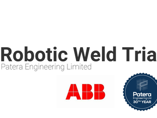 Robotic weld trial at ABB.