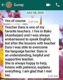 Gunay student feedback about AESL JULY 2