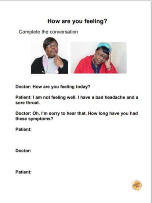 Going to the doctor worksheets