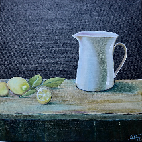 Pitcher and Lemons Still Life