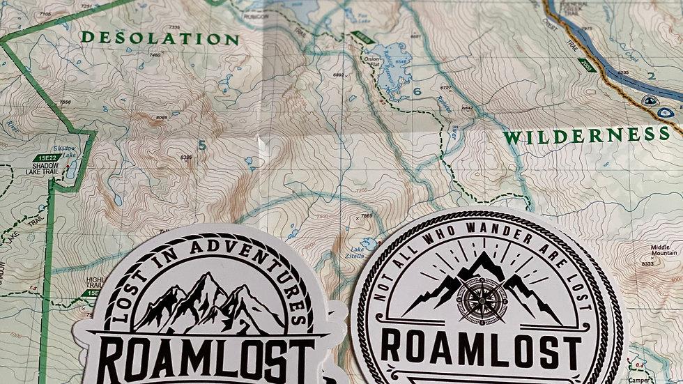 RoamLost Sticker (2 Pack)