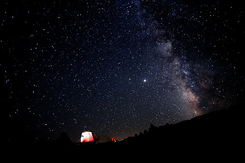 Campfire under the Milky Way | Digital Image