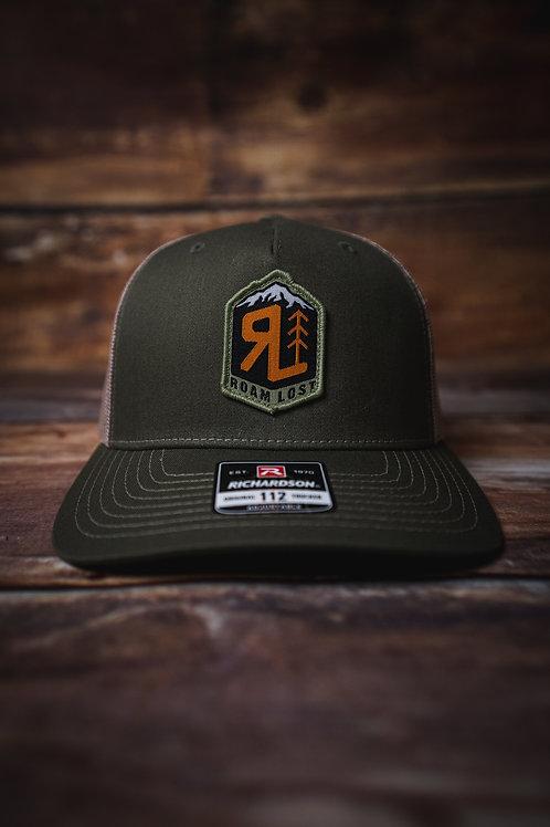 RL BADGE OD GREEN TRUCKER HAT