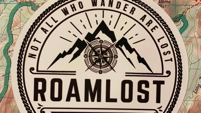 RoamLost (Not All Who Wander Are Lost) Sticker
