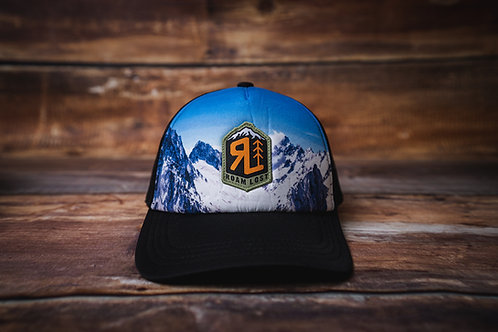 RL BADGE SNOWY MOUNTAIN TRUCKER HAT