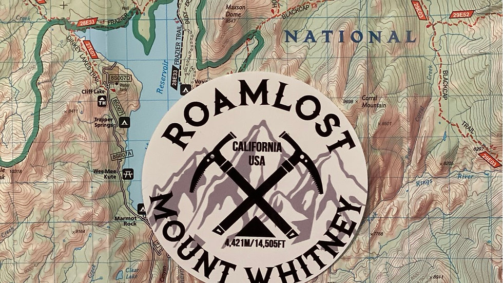 RoamLost Mt. Whitney Sticker