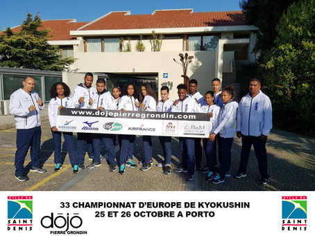 33ième Championnat d'Europe KWF à Porto - Porutgal                    25 - 26 octobre 2019