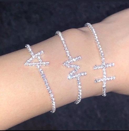 Bling Initial Bracelet/Anklet