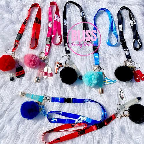 Lip Gloss Keychain with Shoe
