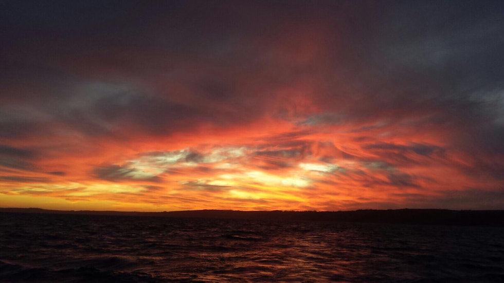 Sunset out of Brixham