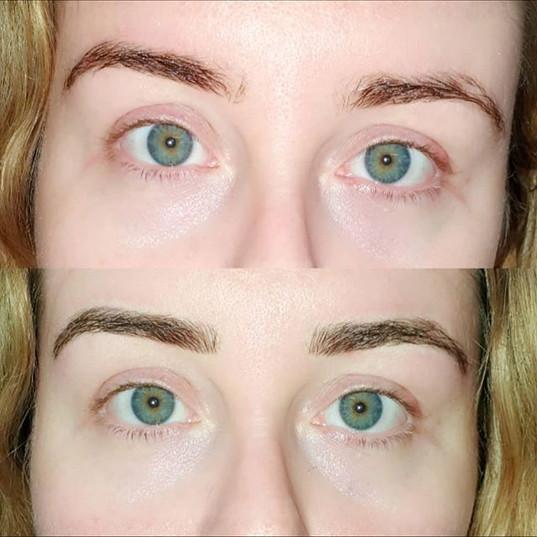 Semi permanent make up nice natural fini