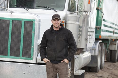 Trucker Who is a Truck Driver for His Career
