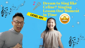 Take Your First Step to Learn to Sing,You May Sing Like Celine One Day邁出第一步學唱歌,你可能會唱的跟Celine一樣