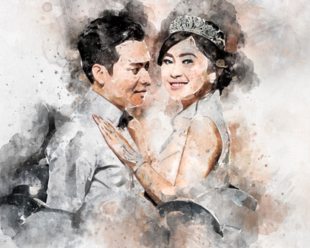 diky wiryawan watercolor effect