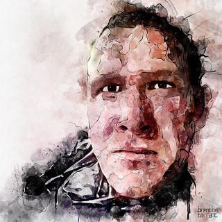 karya ilustrasi wajah dari brenton tarra