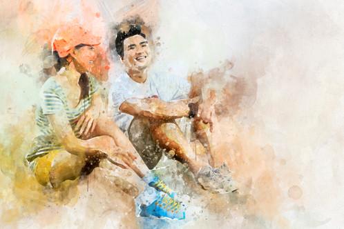 diky wiryawan watercolor effect