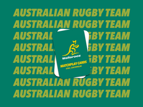 Australian Rugby Team with Reflection MatchPlay Cards