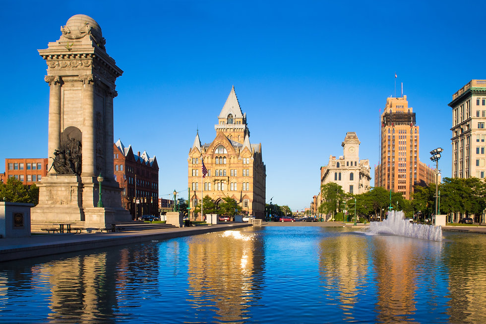 Downtown Syracuse New York with view of