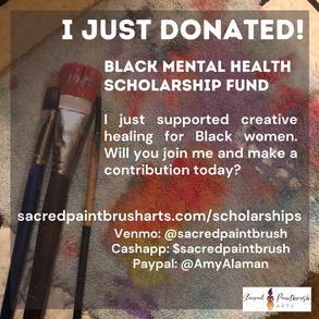 sacred paintbrush arts scholarship donate intuitive painting class