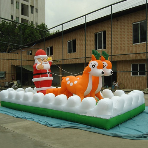 Christmas Parade Floats and Yard Decorations