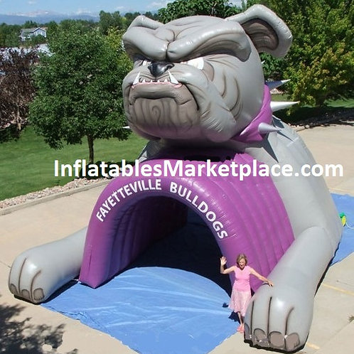 Large Custom Sports Mascot & Entry Archway Inflatable