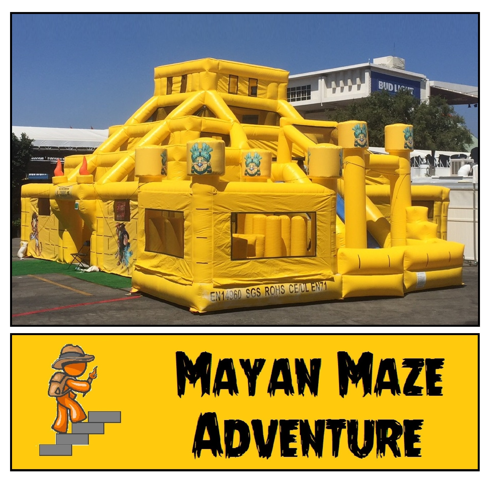 Mayan Maze with Slide and Obstacle