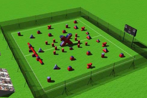 Paintball Field Obstacle Combo E