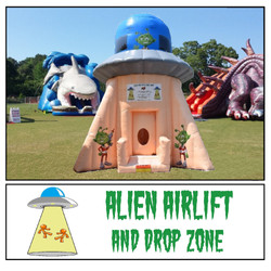 Inflatable air tunnel drop zone