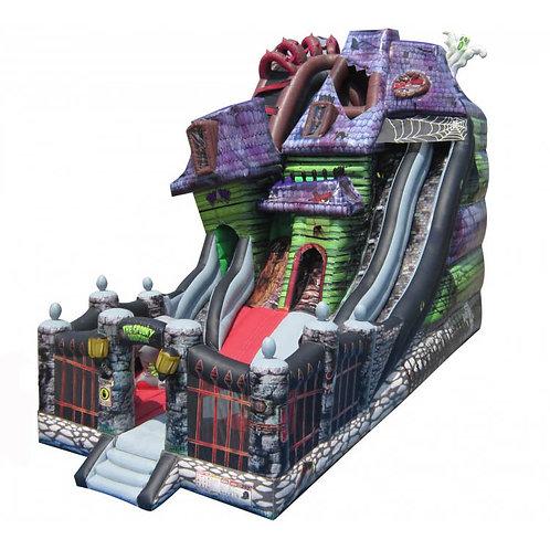 Spooky Mansion Inflatable Slide & Bouncer