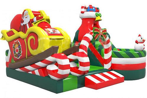 XLarge Christmas Holiday Bouncy Slide Combo