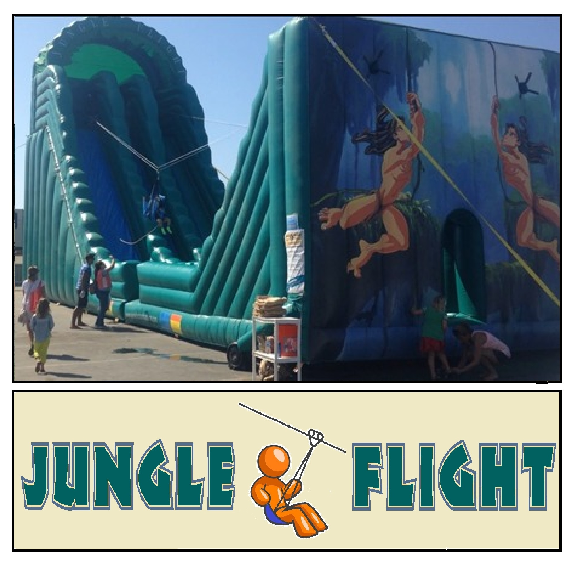 Jungle Flight Inflatable Zip Line