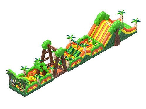 Jungle Trail Inflatable Obstacle Combo