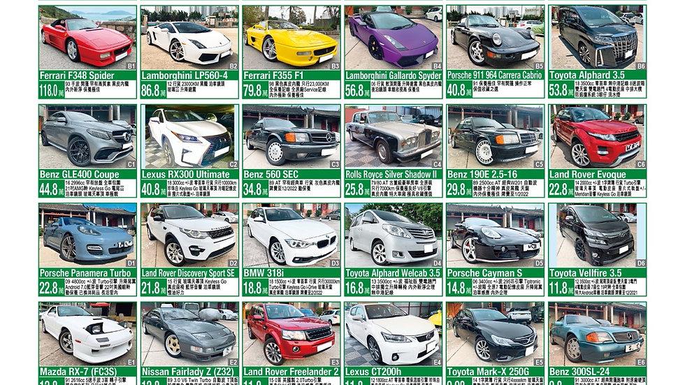 Updated car list sep2021