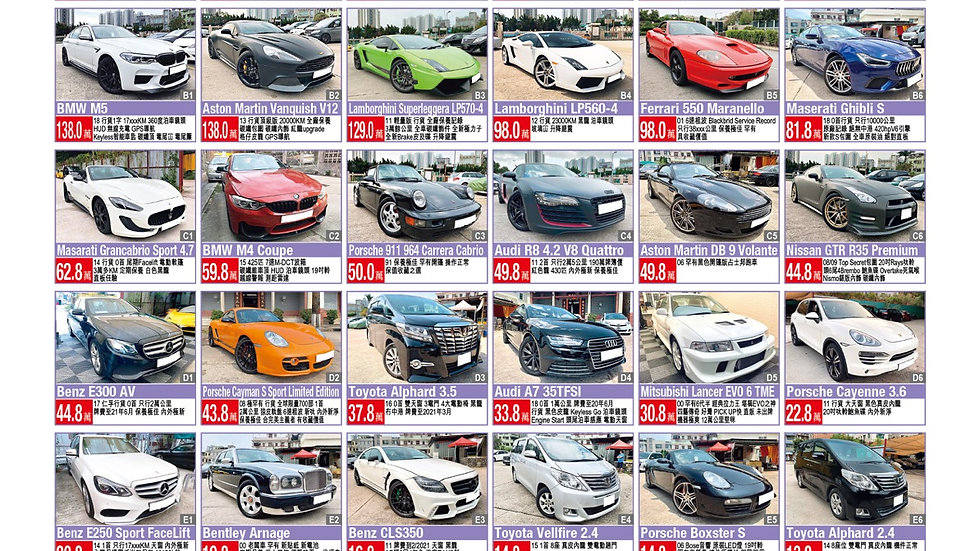 Cars for sell Nov 2020 updated