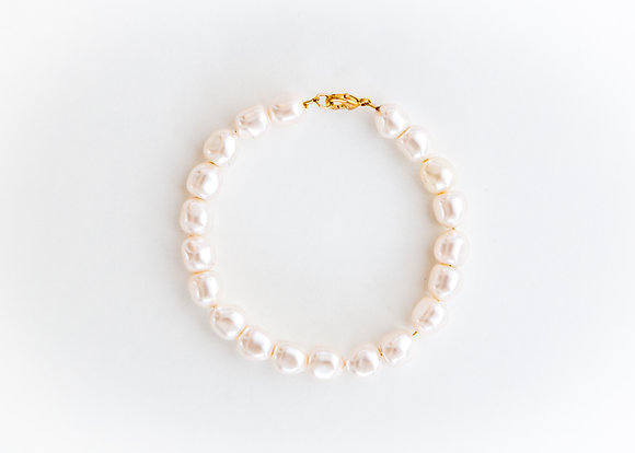 Pearl Charm Bracelet Plain